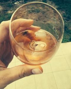 Abends ein Glas Wein mit der Gastmama